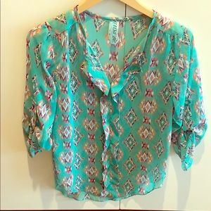 Gently worn francessca brand blouse.